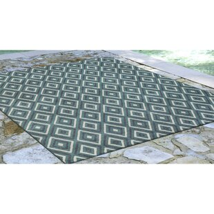 Corr Nested Diamond Blue/Ivory Indoor/Outdoor Area Rug
