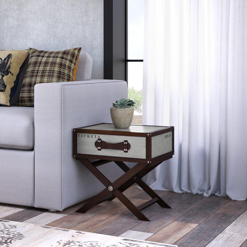 loftdesigns beistelltisch chaparral mit stauraum. Black Bedroom Furniture Sets. Home Design Ideas