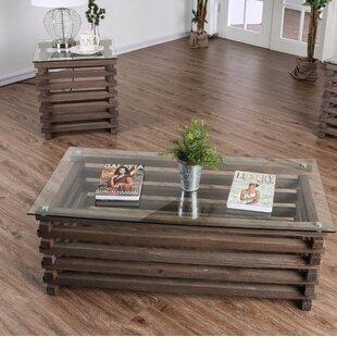 Union Rustic Perrodin Farmhouse 2 Piece Coffee Table Set