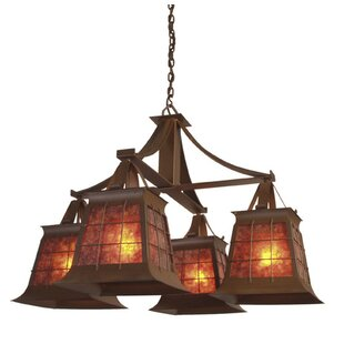Steel Partners Top Ridge 4-Light Shaded Chandelier