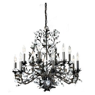 House of Hampton Michale Winter Tree 12-Light Candle Style Chandelier
