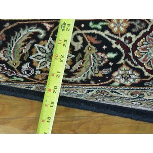 Great choice One-of-a-Kind Clare Mahi Bidjar Hand-Knotted Black Wool/Silk Area Rug By Isabelline
