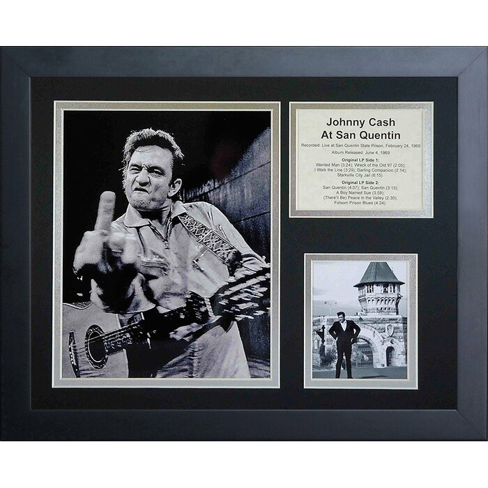 Legends Never Die Johnny Cash at San Quentin Framed Photographic ...