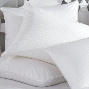 Alwyn Home Pearl Striped Down Alternative Pillow (Set of 2)