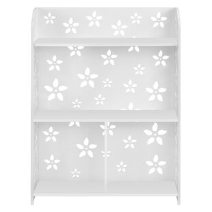 Zullo 3-Tier Modular Sakura Cut-Out Wood Plastic Composite Shelf Unit Storage Standard Bookcase by House of Hampton