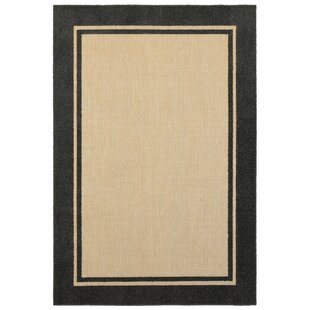 Thalia Border Sand Indoor/Outdoor Area Rug
