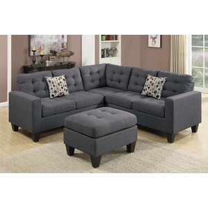 Pawnee Modular Sectional with Ottoman  sc 1 st  Wayfair : gray l shaped sectional - Sectionals, Sofas & Couches