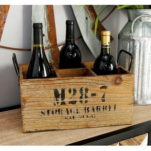 Wood 6 Bottle Tabletop Wine Bottle Rack b..