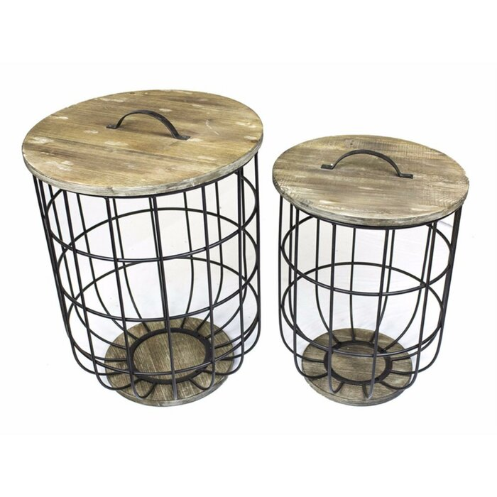 Strange Atkins Storage 2 Piece Nesting Tables Squirreltailoven Fun Painted Chair Ideas Images Squirreltailovenorg