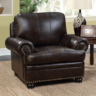 Darby Home Co Ber Leather Club Chair
