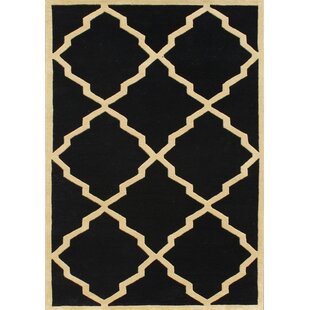Affordable Price Jamestown Hand-Woven Black Area Rug By Threadbind