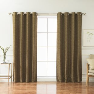 Classic Heathered Solid Blackout Grommet Curtain Panels (Set of 2) by Best Home Fashion, Inc.