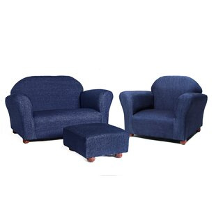 Jovanni 3 Piece Kids Chair and Ottoman by Zoomie Kids