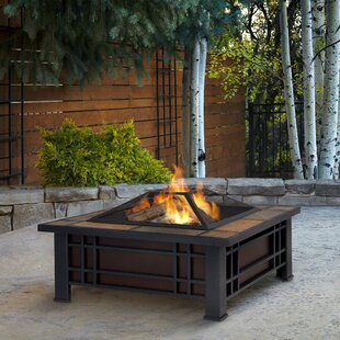 Real Flame Morrison Steel Wood Burning Fire Pit Table