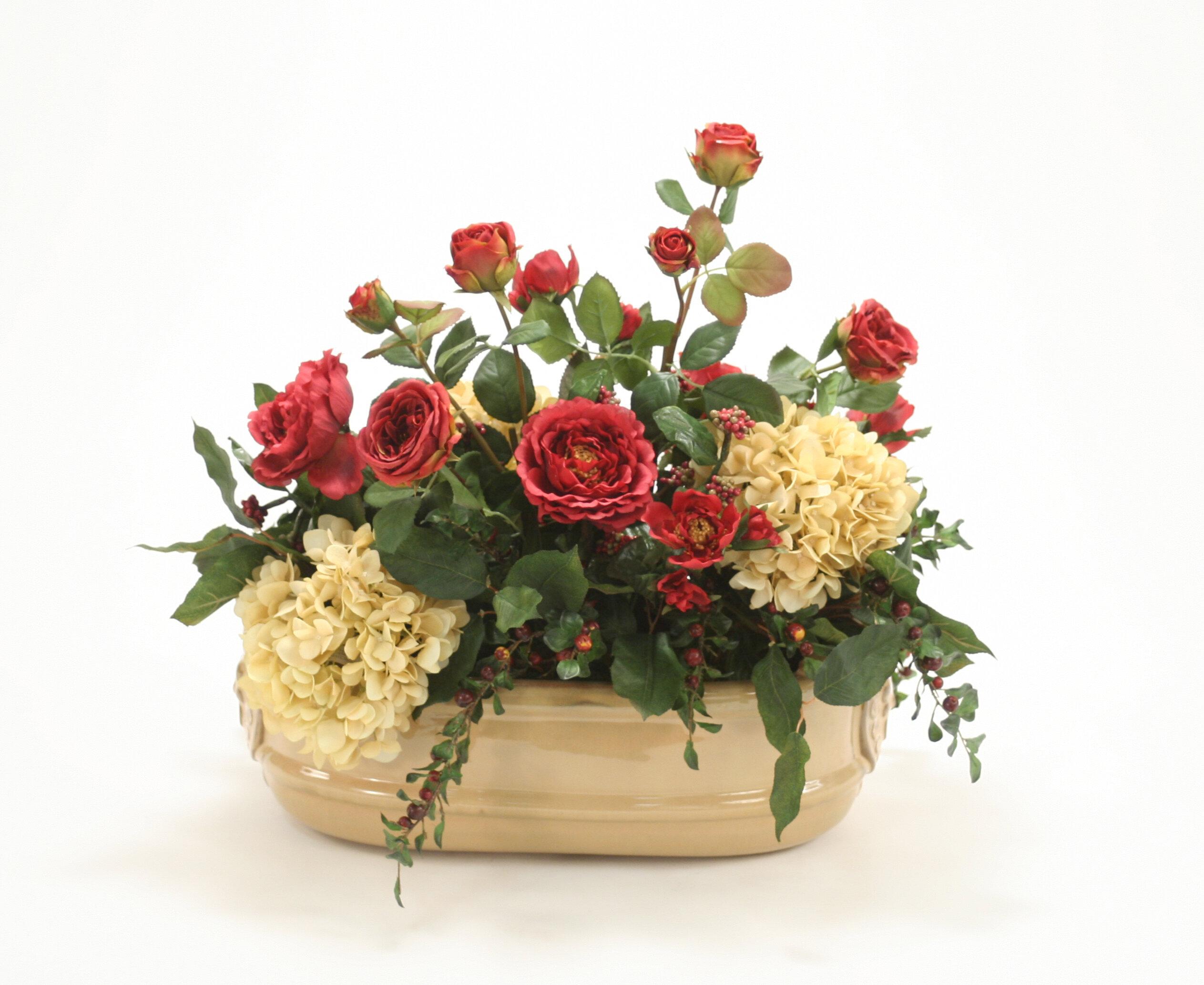 Distinctive Designs Mixed Floral Arrangements In Planter Wayfair