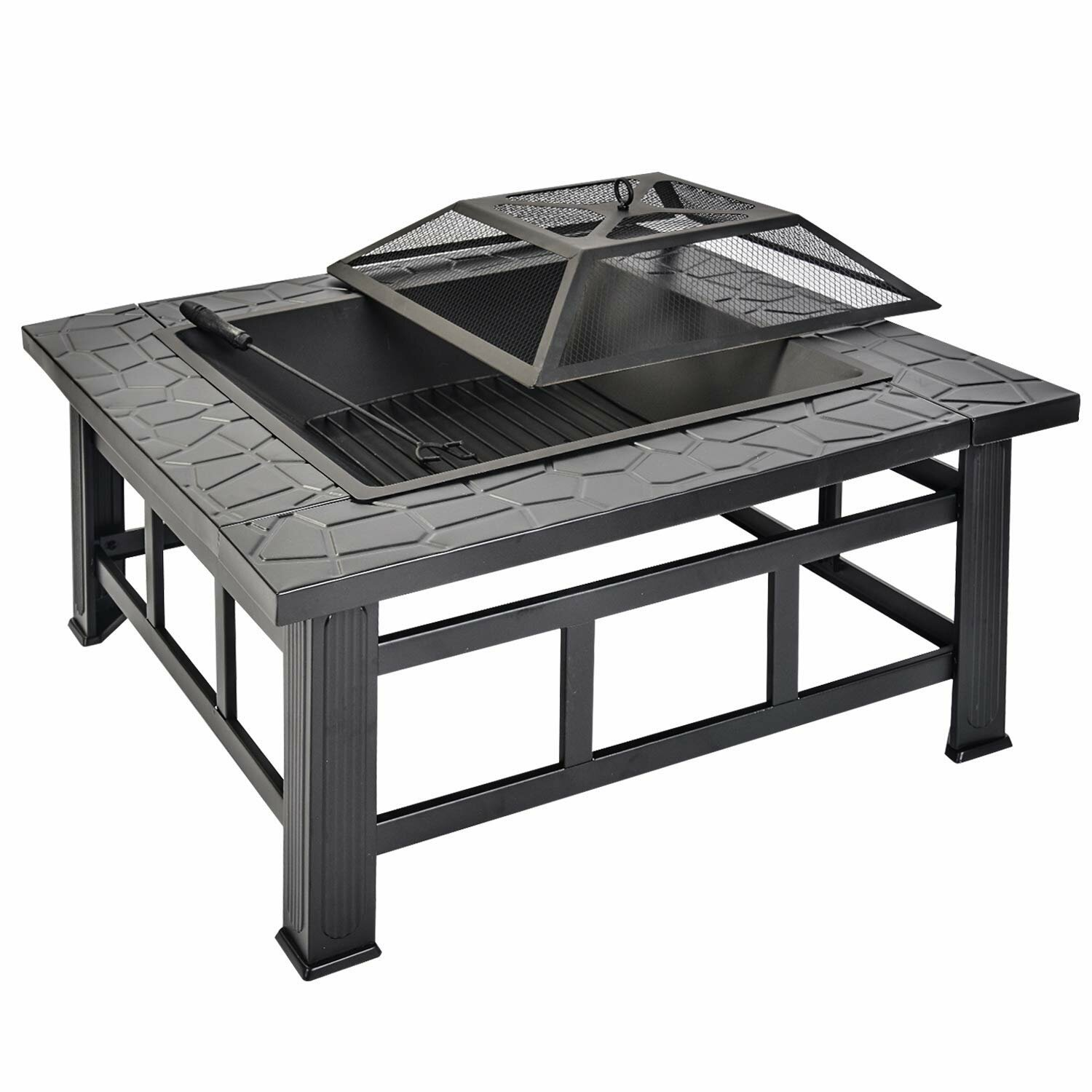 Sol 72 Outdoor Elora Garden And Patio Charcoal Fire Pit Table