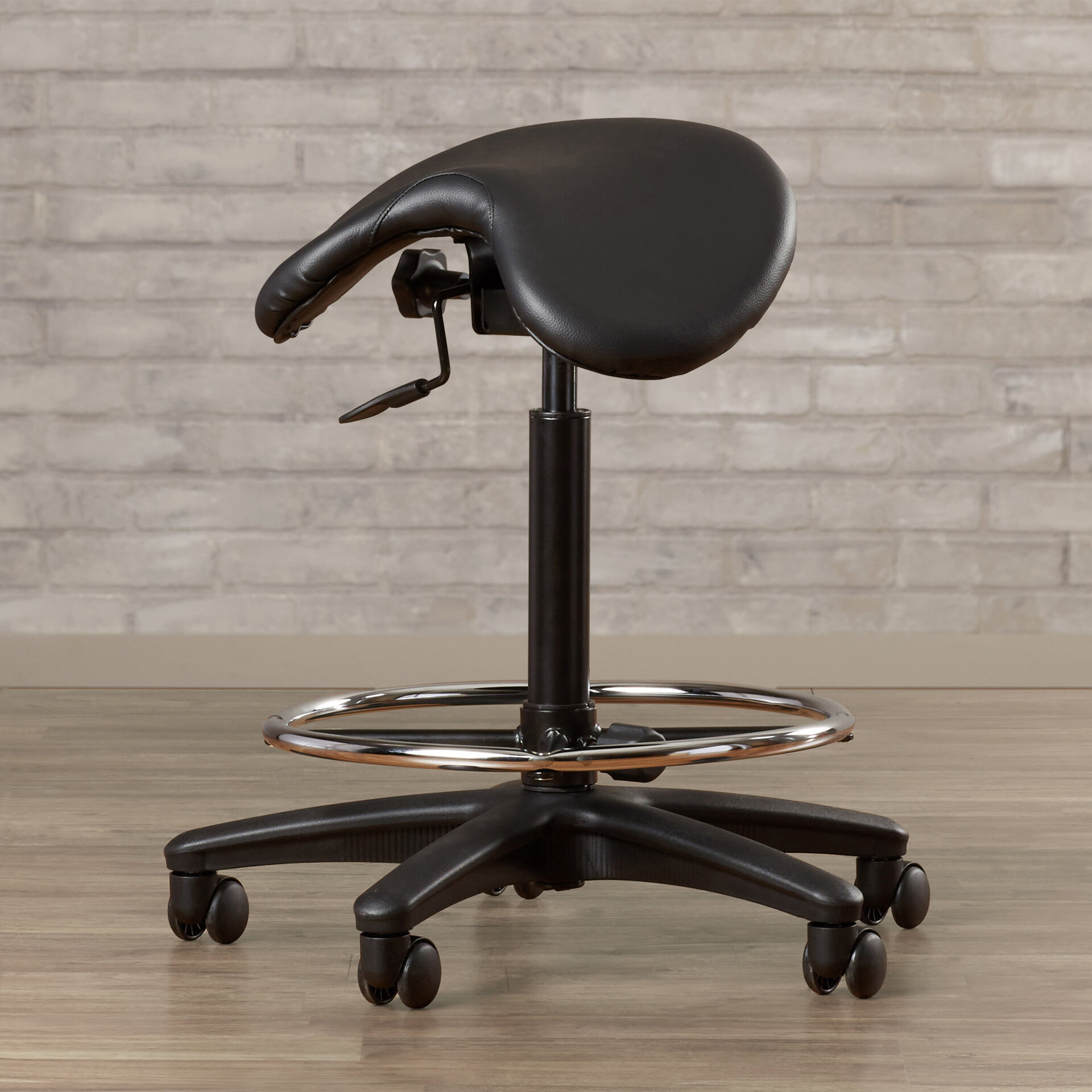 Awe Inspiring Bouley Height Adjustable Backless Lab Stool With Saddle Seat Caraccident5 Cool Chair Designs And Ideas Caraccident5Info