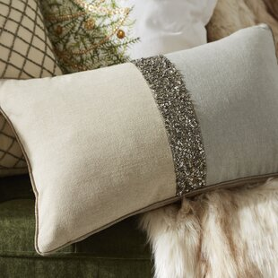 The Posh Tone Beaded Cotton Lumbar Pillow