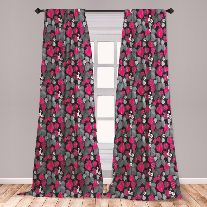 East Urban Home Fruit Art Floral Room Darkening Rod Pocket Curtain Panels Wayfair