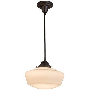 Meyda Tiffany 1-Light Schoolhouse Pendant