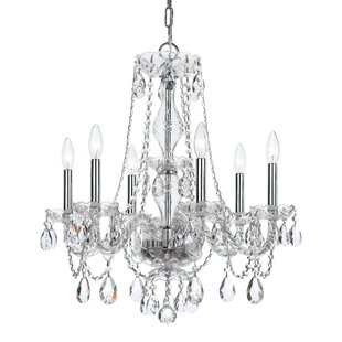 Savings Catchings 6-Light Crystal Chandelier By House of Hampton