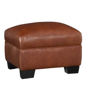 Hahira Leather Ottoman by Latitude Run