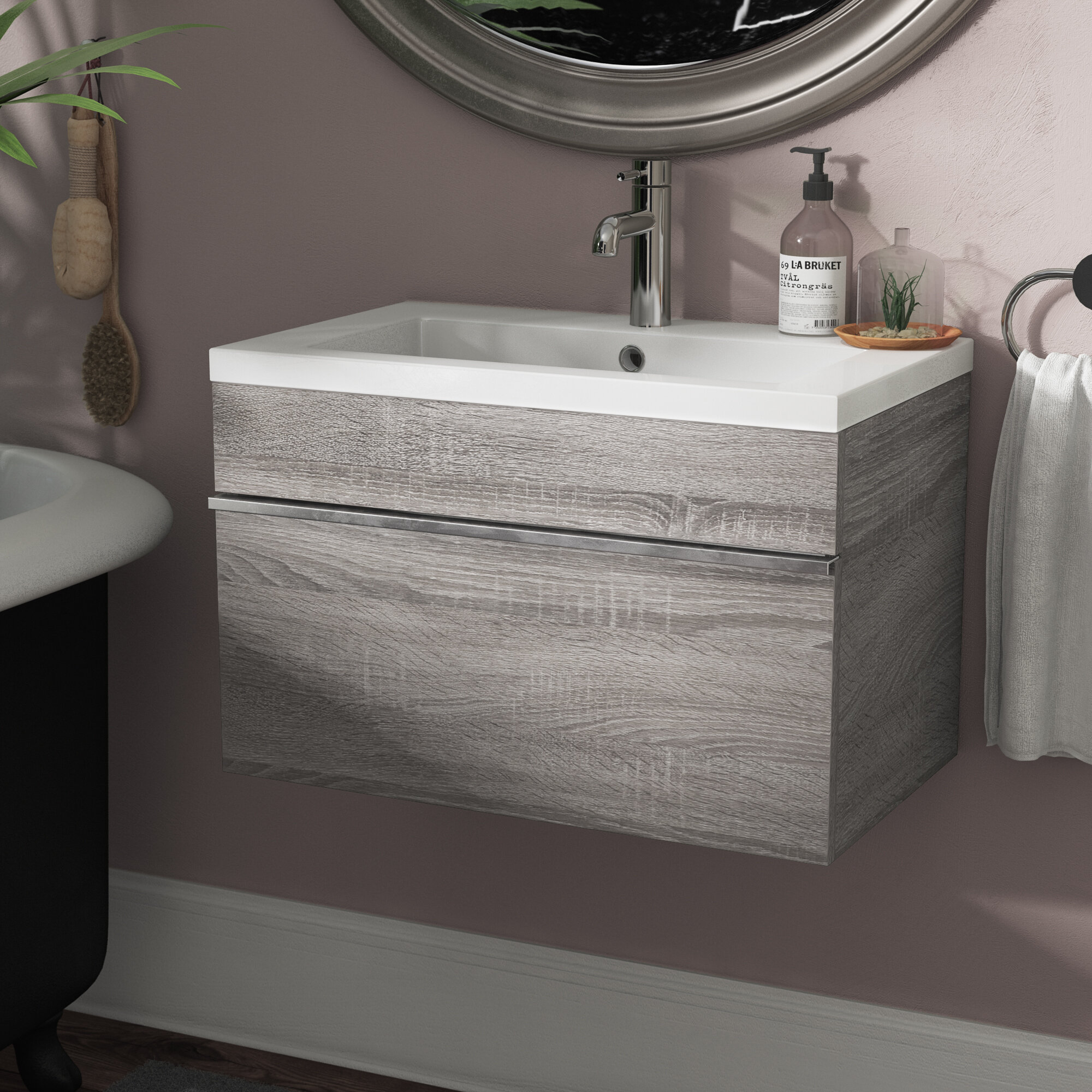 Cutler Kitchen Bath Trough 24 Wall