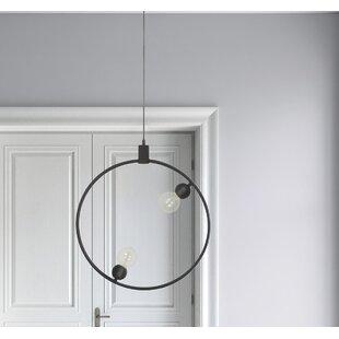 Henry Ceiling Fixture 2-Light Geometric Chandelier by Wrought Studio
