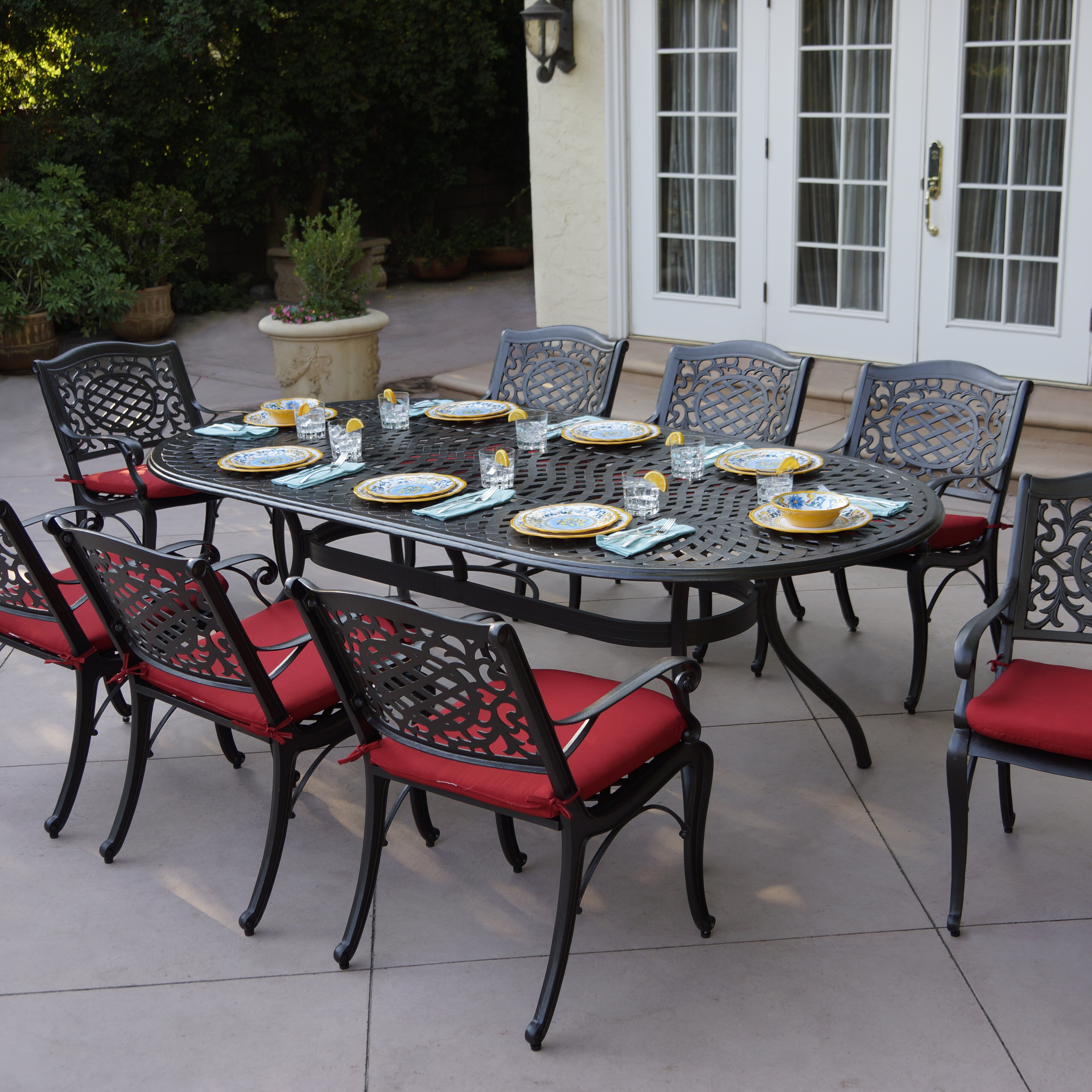 Astoria grand appleby 9 piece dining set with cushions reviews wayfair
