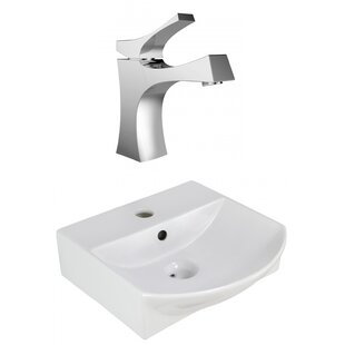 Top Reviews Ceramic U-Shaped Bathroom Sink with Faucet and Overflow ByAmerican Imaginations