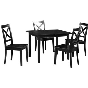 Spiller 5 Piece Extendable Solid Wood Dining Set by Winston Porter No Copoun