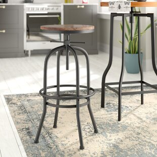 Banksville Height Adjustable Swivel Bar Stool By Borough Wharf