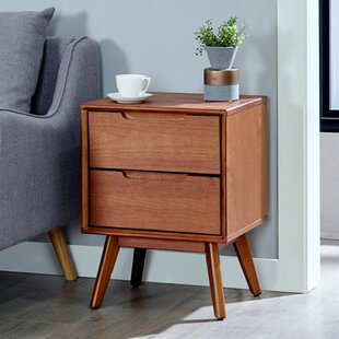 2 - Drawer Solid Wood Nightstand