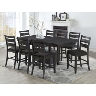 Offutt 9 Piece Pub Table Set Canora Grey