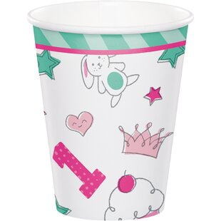 Doodle 1st Birthday Paper Disposable Cup (Set of 24)