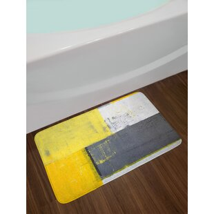 Street Gray and Yellow Bath Rug