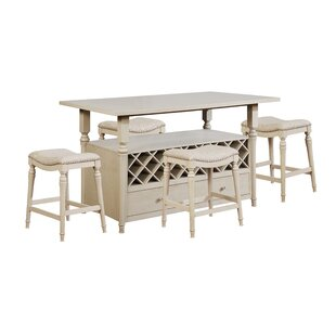 Abby 5 Piece Pub Table Set (Set of 5) by Alcott Hill