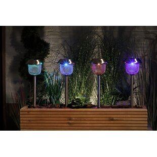 Nowaczyk Solar Mesh 1 Light LED Pathway Lights (Set Of 4) By Sol 72 Outdoor