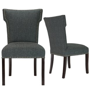 Kober Upholstered Dining Chair Set of 2 by Alcott Hill