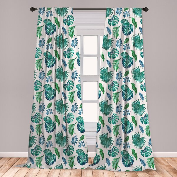 Palm Leaf Curtains Wayfair