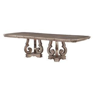 Leanos Dining Table by Rosdorf Park