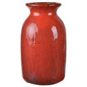 Red Ceramic Table Vase