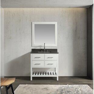 Highland Creek 36 Single Bathroom Vanity Set with Mirror By Ebern Designs