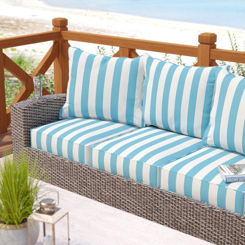 Rosecliff Heights Fitzsimmons Corded Stripe 6 Piece Indoor/Outdoor ...