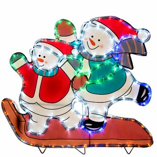 Skating Snowmen Lighted Display Image