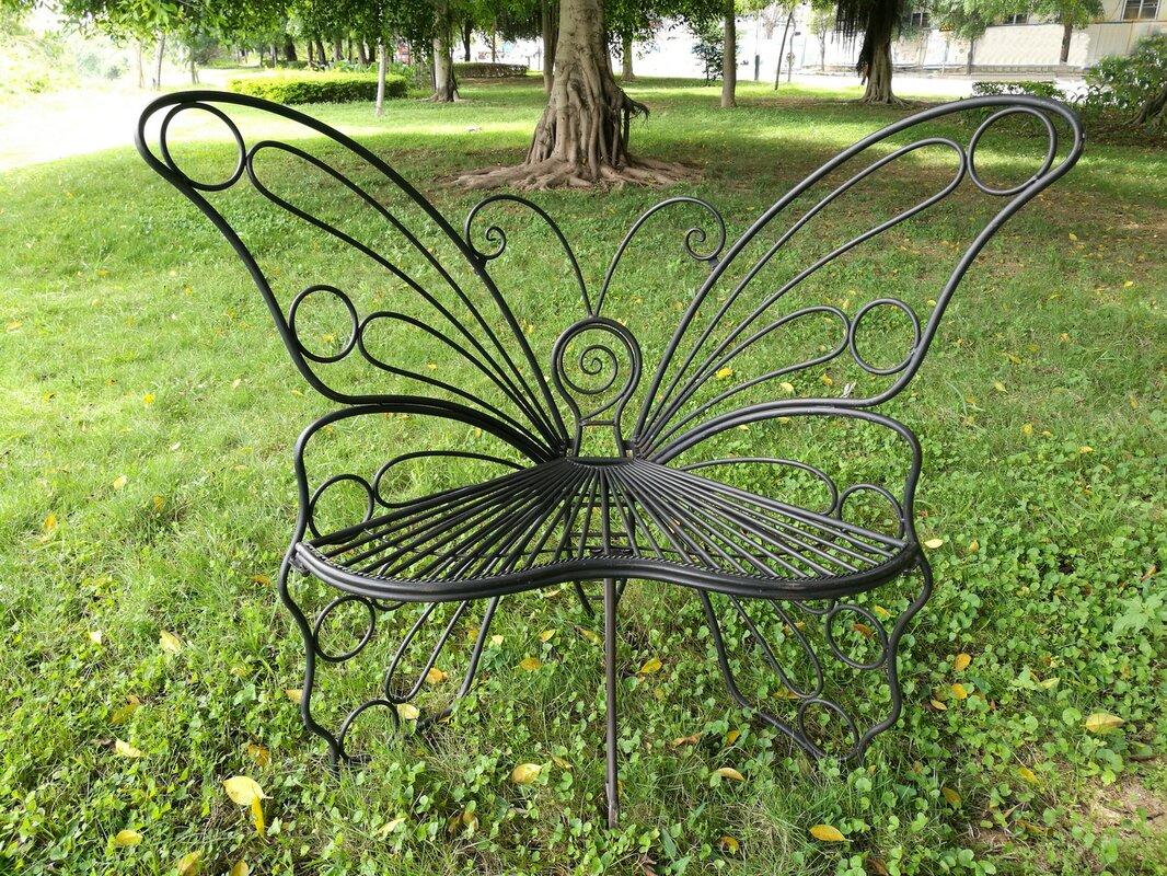 Hi-Line Gift Ltd. Butterfly Metal Garden Chair & Reviews   Wayfair