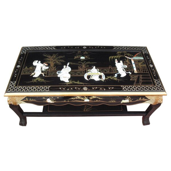 World Menagerie Mother Of Pearl Coffee Table With Magazine