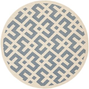 Jefferson Place Blue Indoor/Outdoor Area Rug by Wrought Studio
