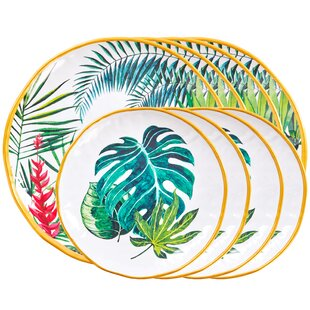 Fairway 8 Piece Melamine Dinner Plate Set By Bay Isle Home