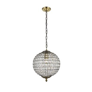 Aguilera 1-Light Globe Pendant by House of Hampton